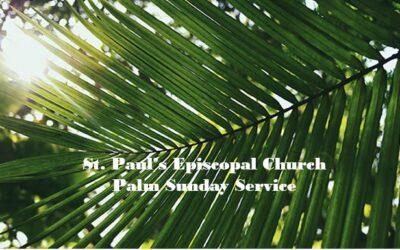 PALM SUNDAY MARCH 28